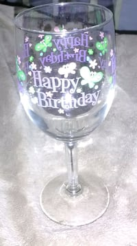 Birthday Glass and Holder