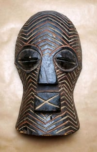 Authentic Bembe Mask from the Congo Middle River