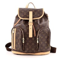 brown Louis Vuitton Monogram leather backpack 28 km