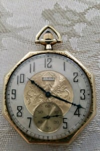 RARE 1923 18 K GOLD LORD ELGIN POCKET WATCH