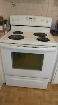 white and black electric coil range oven Mississauga, L5N