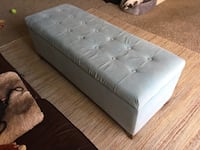 Blue Fabric Ottoman with Storage Falls Church