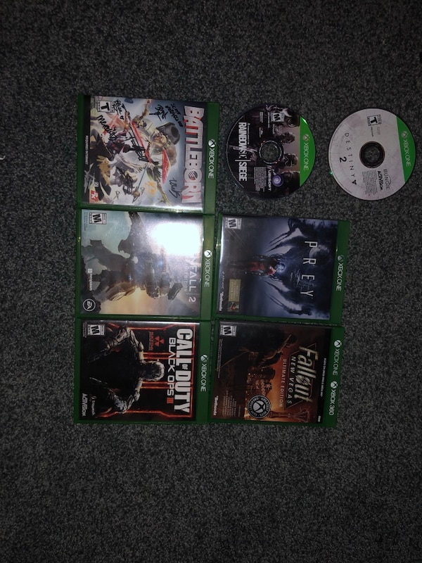 Xbox one 500g with 7 games