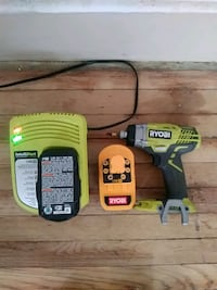 Ryobi impact drill, charger and 2 batteries Detroit, 48238