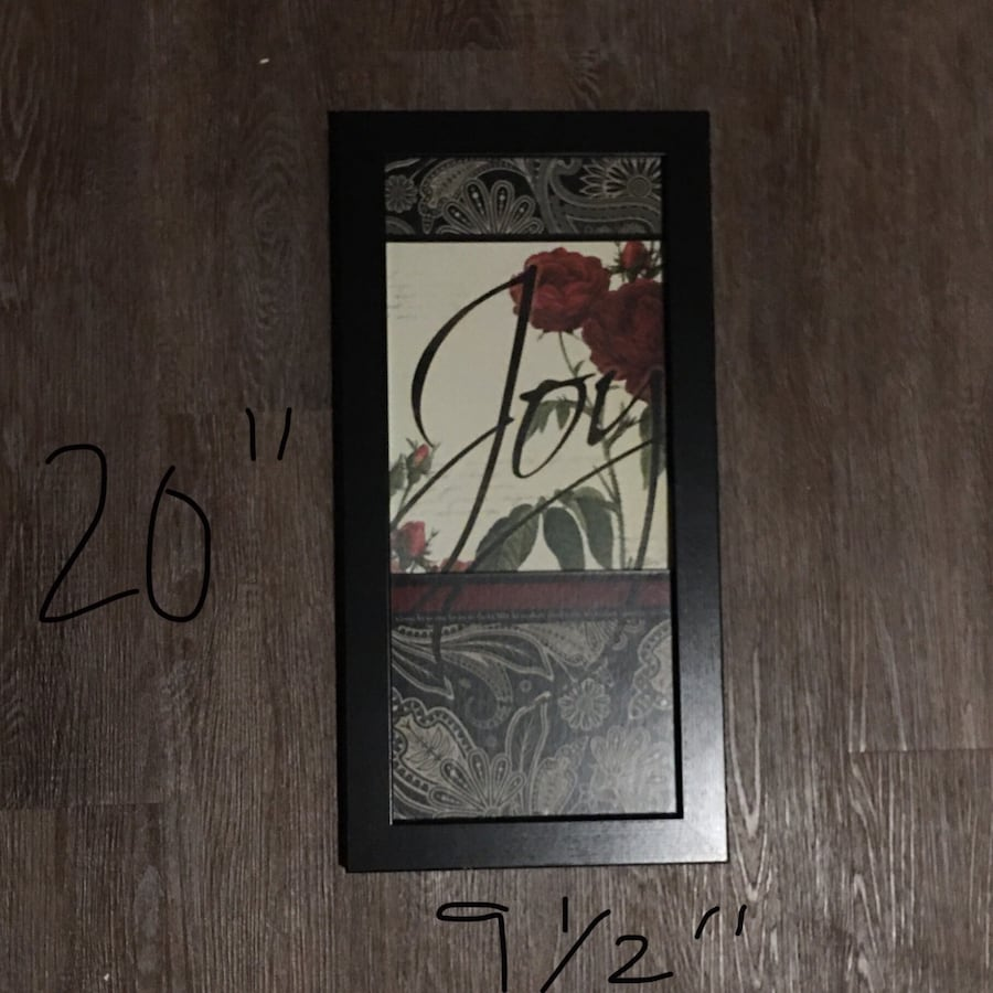 Joy framed decor