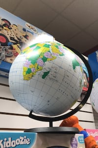 Inflatable globe, 12 inches with stand Cockeysville, 21030