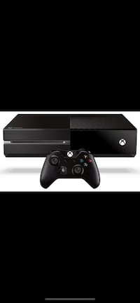 black Xbox One with controller. 100 mi