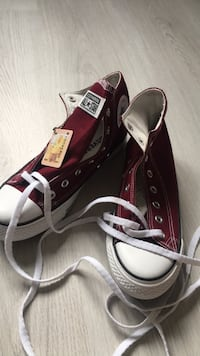 Par sorte converse all star høy-top sneakers 6096 km