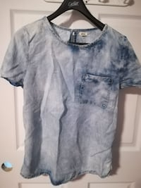 acid washed chambray scoop-neck shirt Levis, G6V