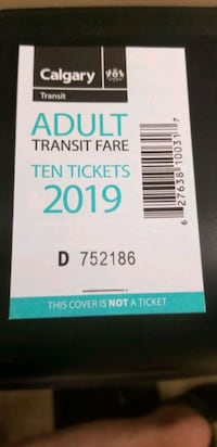 Adult transit tickets  Calgary, T2Z 4H9