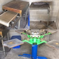 Screen Printing Business Riley Hopkins 4x4 press Houston, 77034