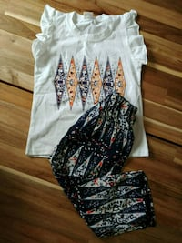 White top+pants for summer+hairband(Brand new) Bradford West Gwillimbury, L3Z 3A7