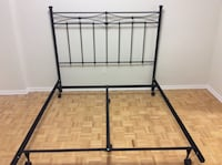 New one metal bed frame with new headboard, qween size Toronto, M2R 2A3