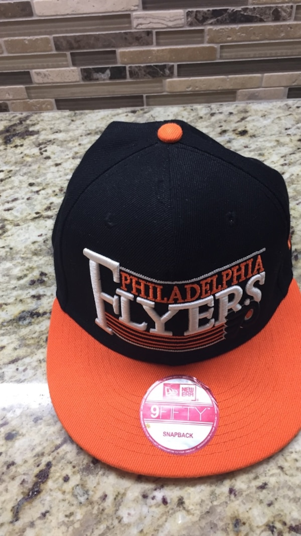 7118249afccee7 Used orange, white, and black New Era Philadelphia Flyers 9Fifty snapback  for sale in Toronto - letgo