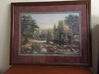 brown wooden framed painting of house Mesquite