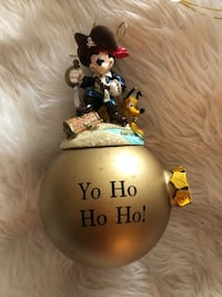 Disney Pirates of the Caribbean Glass Ornaments from Disney World Christmas Store   Fall River, 02720