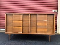 Gorgeous Mid Century Modern MCM Solid Wood Long Dresser Project Piece  Woodbridge, 22192