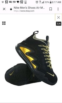 black-and-yellow Nike Air Max shoes Arlington, 22206