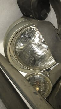Jeep CJ headlight bezels and lights and turn signals