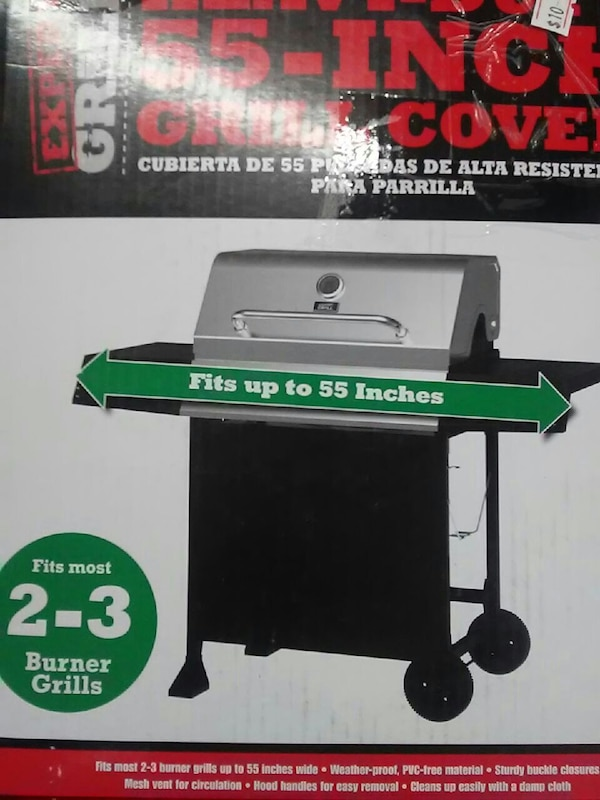 Used Expert Grill Heavy Duty 55 Inch Grill Cover For Sale In