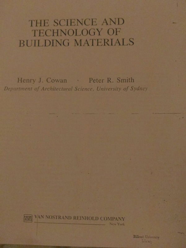 The science and technology of building materials