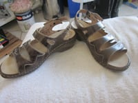 JOSEF SEIBEL AIRPED PLUS BROWN ANKLE STRAP SANDALS