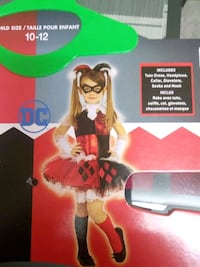 Harley Quinn Halloween costume (10-12 size) Mississauga, L5A 3M5