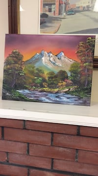 multicolored snowcap mountain painting Elkin, 28621