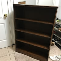 brown wooden 4-layer shelf