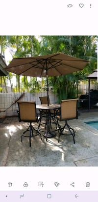 brown wooden table with chairs Wailuku, 96793