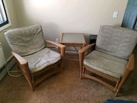 Indoor/Outdoor chairs with side table Madison, 53713