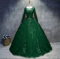 New Gorgeous luxury green prom dress/ball gown