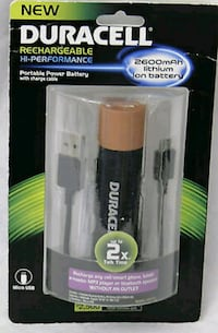 Duracell Portable Power Bank With Micro USB Cable