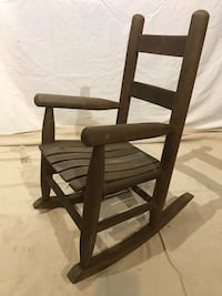Child's wood rocking chair 26 mi