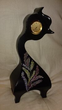 black ceramic framed analog clock Stratford, ON N5A 2A1, Canada