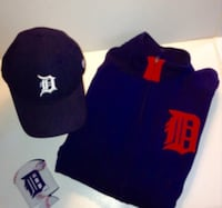 Detroit Tigers Majestic Athletic Zippered Jacket S London