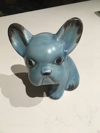 Blue Sylvac collector French bulldog