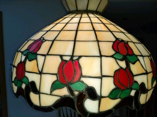 """Tiffany style hanging light fixture, 20"""" fef50009-a349-4ce5-a271-c0c0f4ad1bb2"""
