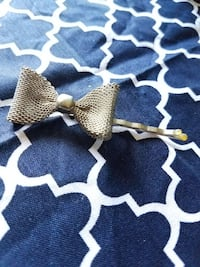 Bobby pin with a silver bow  North Richland Hills, 76182