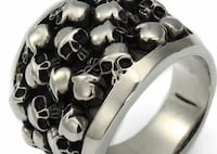 Men's size 7 skull ring. Never worn. Occoquan, 22125