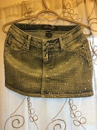 silver sequined blue denim skirt Calgary, T2Y 4E3