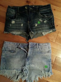 two black and blue-washed whiskered short shorts Repentigny, J5Z 3H2