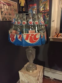 Custom made RC Cola bottle lamp all authentic bottles and carriers hand made beautiful piece!! Coca Cola Pepsi Coke Swatara, 17113