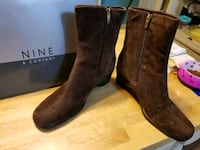 """""""NINE"""" WOMENS SUEDE BOOTS 9.5 VERY GOOD CONDITION $40 Shelton, 06484"""