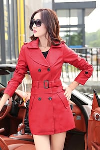 Imported red leather coat  Besançon, 25000