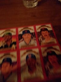 6 baseball cards with a stack of others Valley Stream