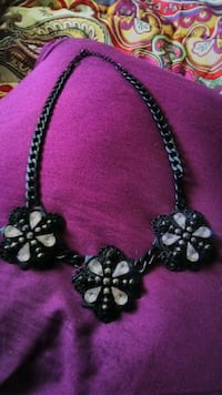 Beautiful Black and Crystal Necklace