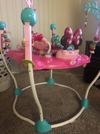 baby's pink and white jumperoo Riverside, 92504
