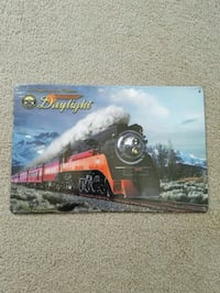 Southern pacific train  daylight steel metal sign  Portland, 97217