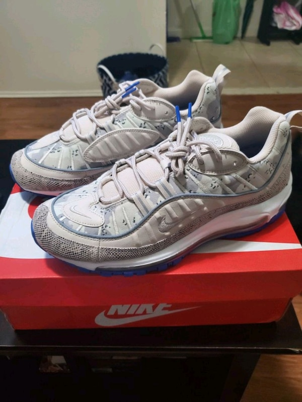 best sneakers 3851b 2006d Wms Nike Air Max 98 Snakeskin Camo Size 10.5